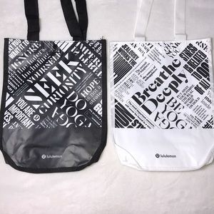 Set of 2 lululemon shopping bags